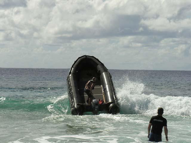 Surfing Henderson Island